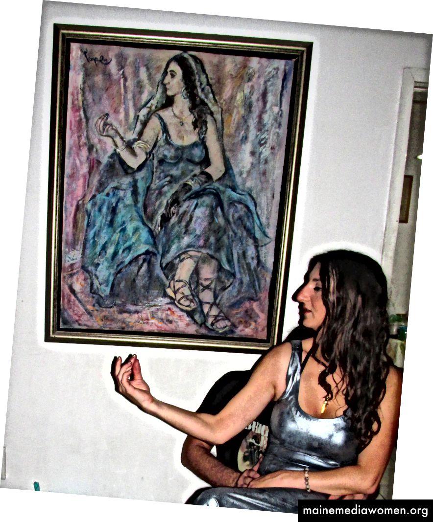 Ich habe mich vor kurzem zu meinem 20. Geburtstag vor einem Porträt posiert