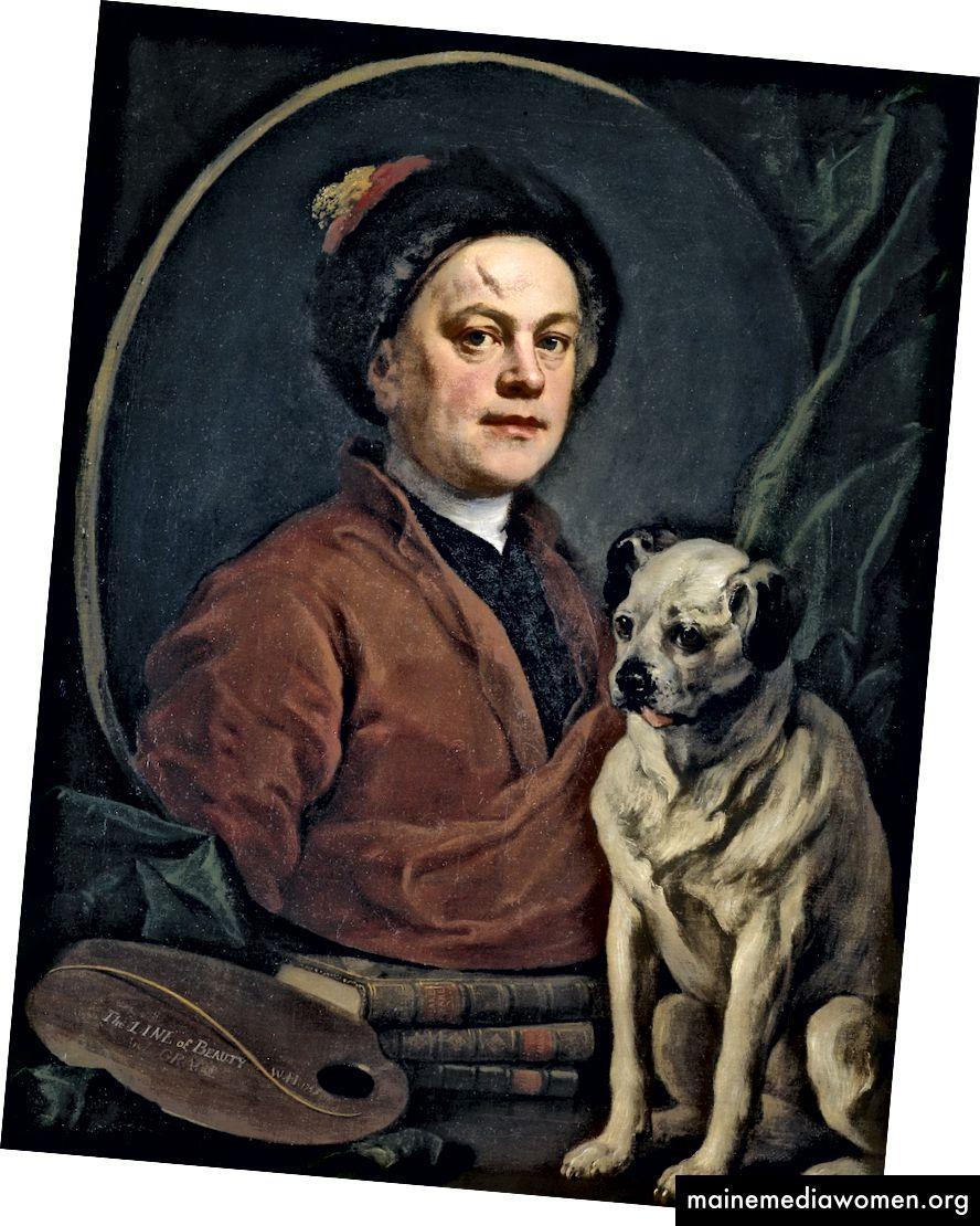 William Hogarth, Der Maler und sein Mops, 1745 | © Tate