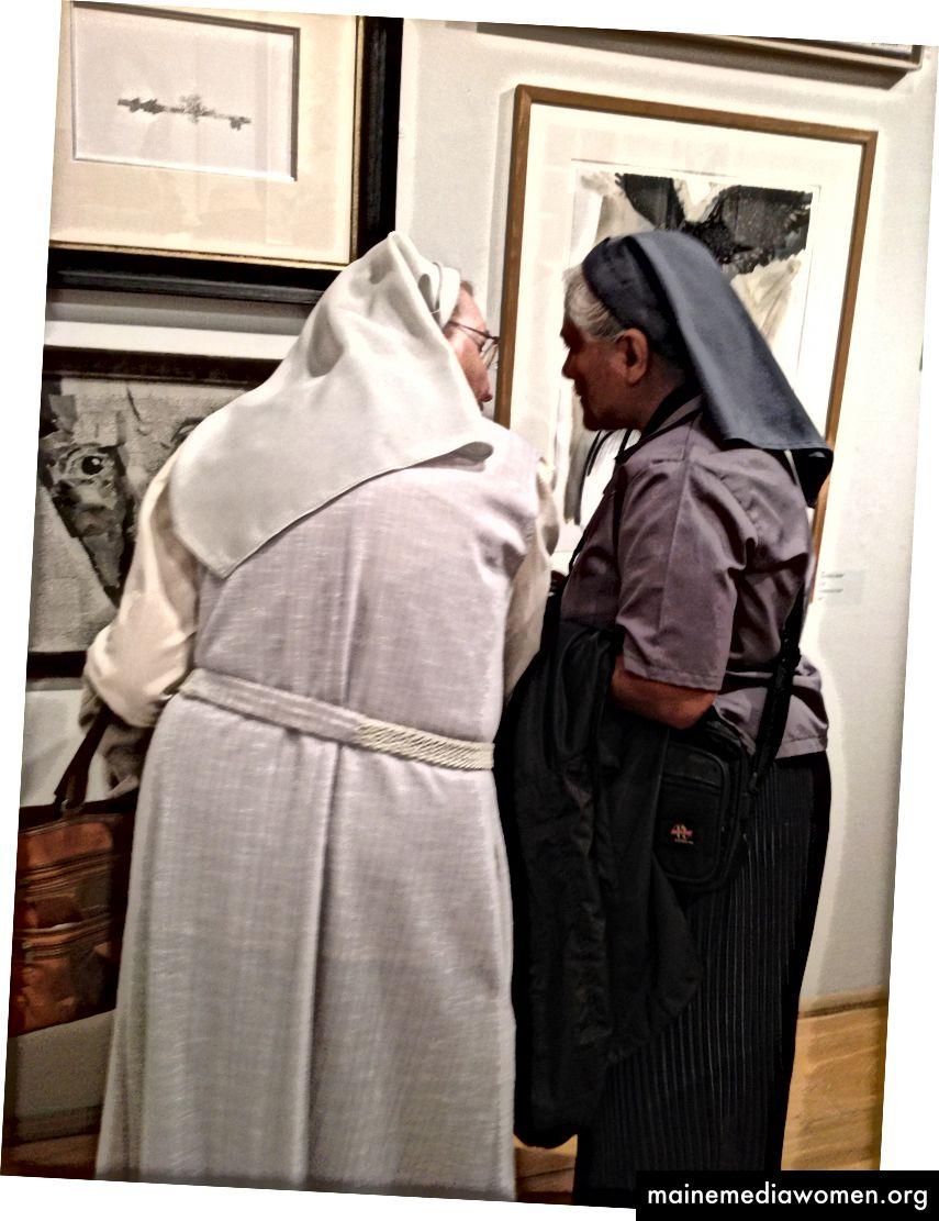 Meine Musen, als ich sie auf der Ausstellung in den Mall Galleries in London kennenlernte.