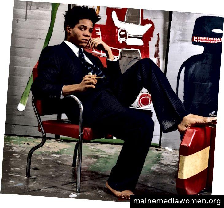 Jean-Michel Basquiat auf dem Cover des New York Times Magazine um Februar 1985.