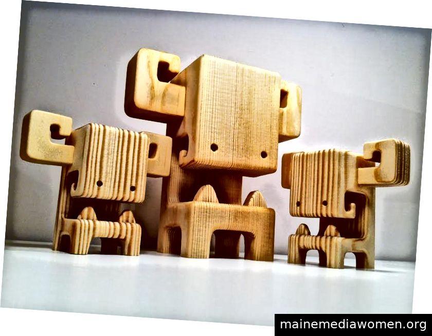 MEGA BOOSO - Ein 7-Zoll-Holzspielzeug von Pepe Hiller