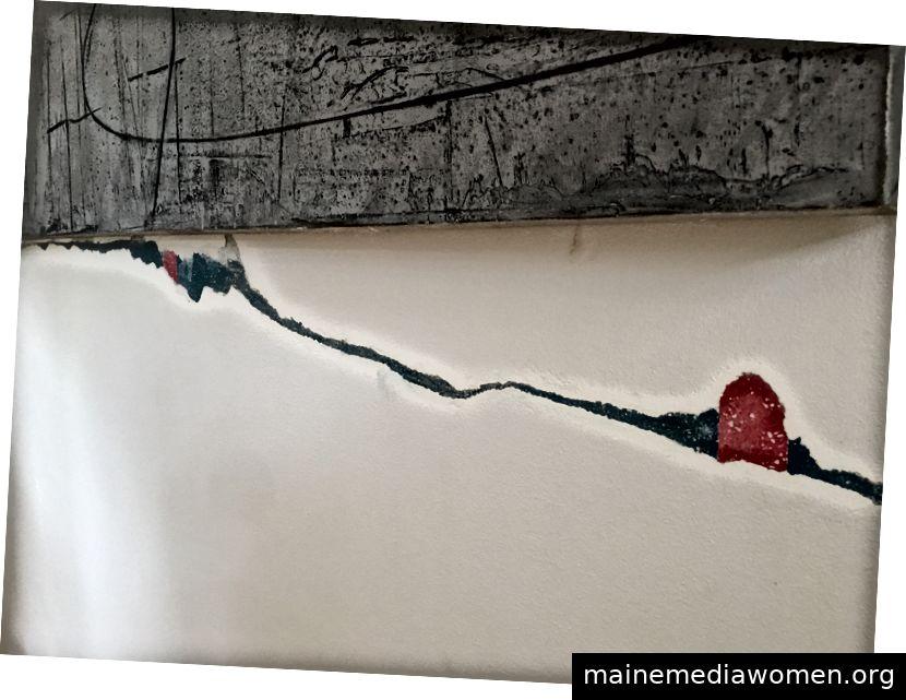 """Sol LeWitts """"Wandzeichnung Nr. 679"""" stammt aus dem Sheetrock in einem Haus in Houston. Mit freundlicher Genehmigung von Jonna Hitchcock."""