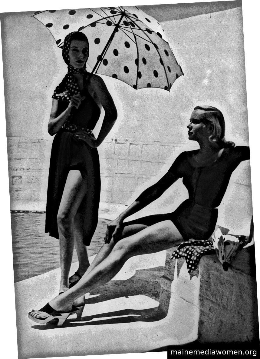 Foto von Toni Frissell für Harper's Bazaar, 1952.