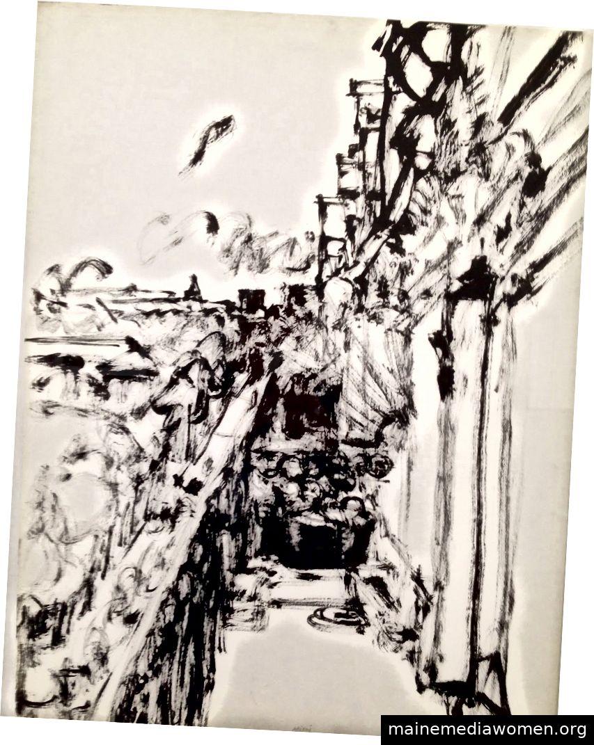 Avenue de Tourville mit Blick auf den Balkon   Avigdor Arikha 1966, Nachlass von Avigdor Arikha