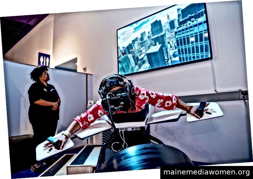 Virtuelle Erfahrung mit dem HTC Vive im Tech Museum of Innovation von San José