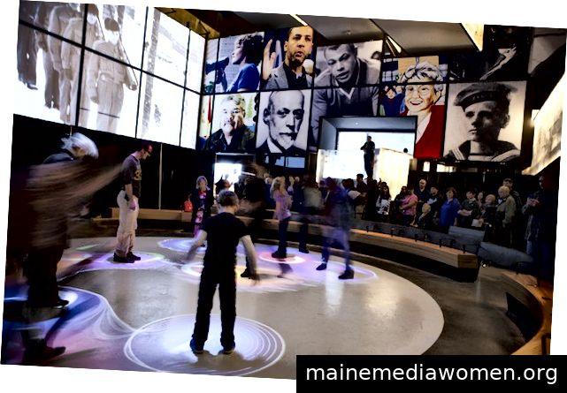 Animation im Museum für Menschenrechte in Kanada