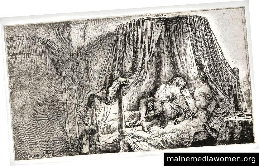 Das französische Bett (1646), Rembrandt. Rijksmuseum Amsterdam.