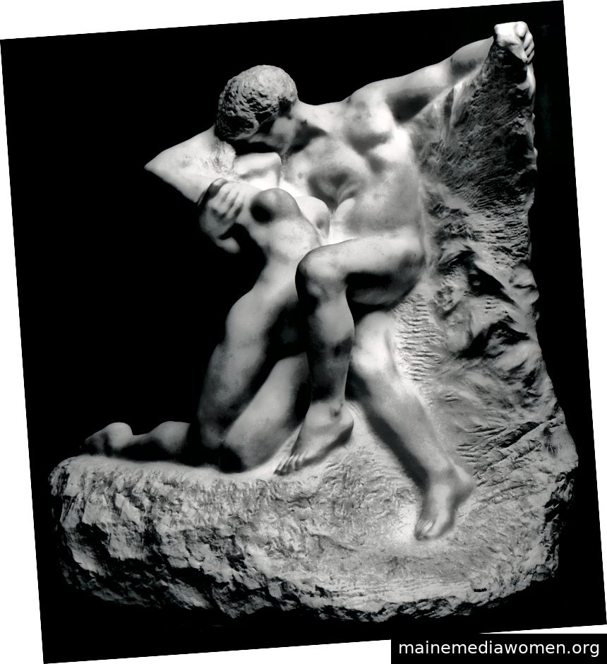 Ewiger Frühling (modelliert um 1881, geschnitzt 1907), Auguste Rodin.