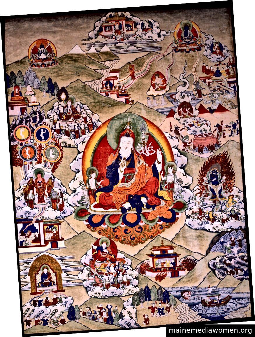 Padmasambhava. Tibet; 19. Jahrhundert. Pigmente auf Stoff.   Mit freundlicher Genehmigung des Rubin Museum of Art