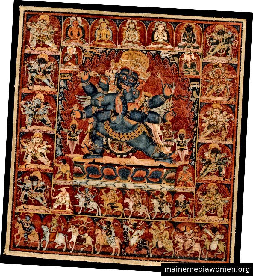 Vajrakilaya der Acht Verlautbarungen. Tibet; Ca. Ende des 13. Jahrhunderts. Pigmente auf Stoff. | Mit freundlicher Genehmigung des Rubin Museum of Art