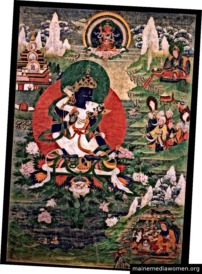 Padmasambhava als Orgyen Dorje Chang. Tibet; 19. Jahrhundert. Grundmineralpigment auf Baumwolle. | Mit freundlicher Genehmigung des Rubin Museum of Art