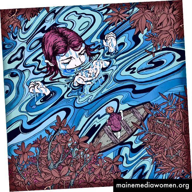 Paulo D. Campos - der blaue Wirbel knallt, aber nicht vom Brennpunkt wegnehmen. Auch die Blätter von Braun und Rot. Vielleicht ist es die Verwendung von sich wiederholenden Mustern und monochromen Abschnitten, die es so gut funktionieren lassen. Oh, und es wird der Dutch Tilt verwendet, über den wir im Noir-Abriss gesprochen haben