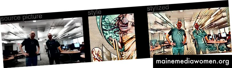 Hier ist das Quellbild von zwei Entwicklern (Phil Mathieu und Jean Raby) und der Stil stammt von Notre Dame de Grace von A'Shop, einem Wandgemälde in Montreal.