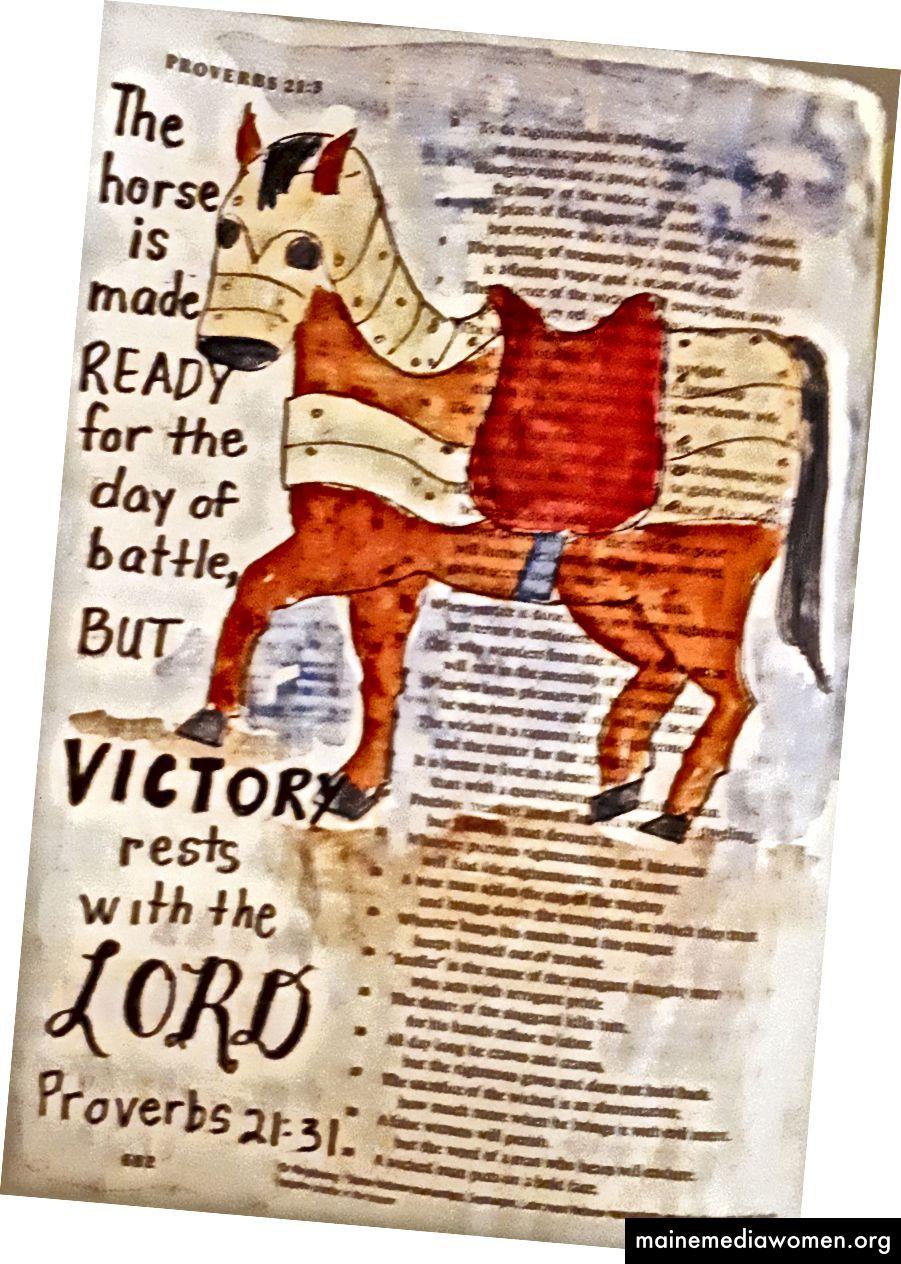 Sprüche 21:31 Art Journaling - Janis Cox