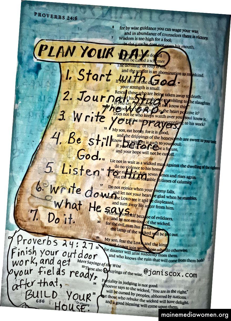 Sprüche 24:27 Art Journaling - Janis Cox