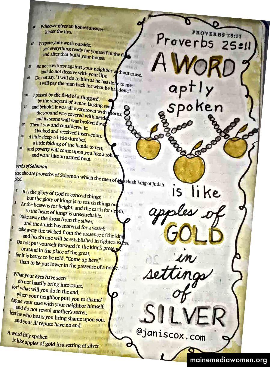Sprüche 25:11 Art Journaling - Janis Cox