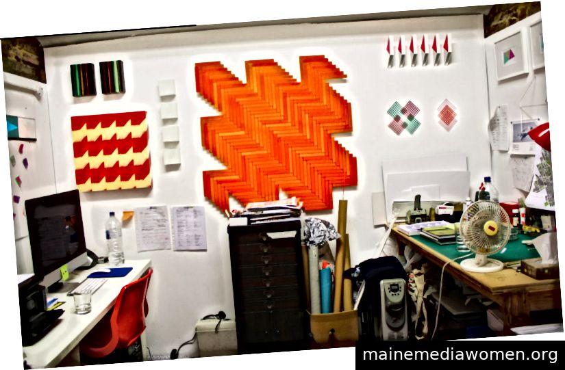 Rana Begums aktuelles (viel schöneres!) Studio in Haringey, Nord-London. Bildnachweis: Something Curated