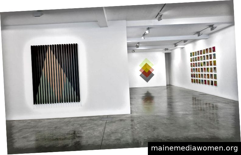 Rana Begums Einzelausstellung The Space Between in der Parasol Unit, London