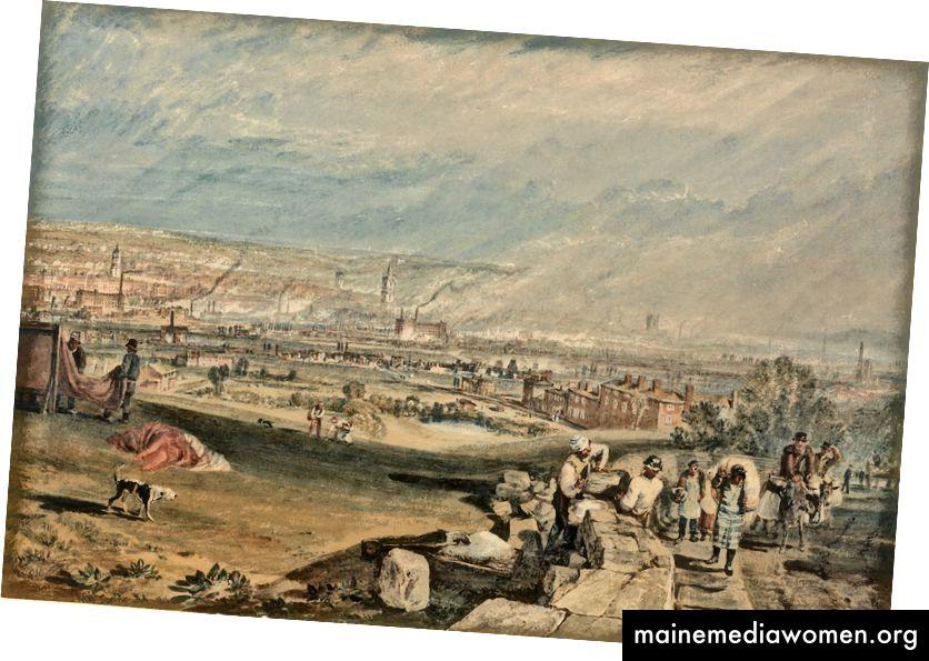 Joseph Mallord William Turner. Leeds, 1816   Foto: Yale Centre for British Art