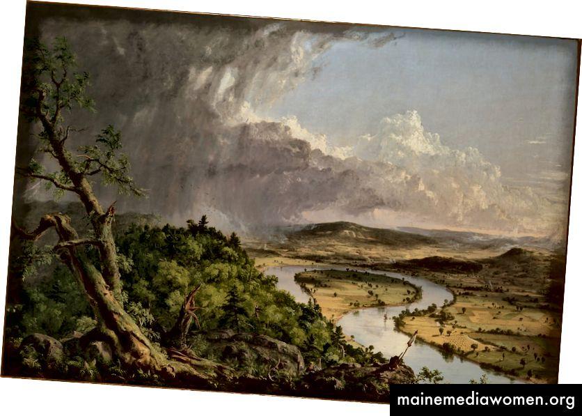 Thomas Cole. Blick vom Mount Holyoke, Northampton, Massachusetts, nach einem Gewitter - The Oxbow, 1836   © Das Metropolitan Museum of Art