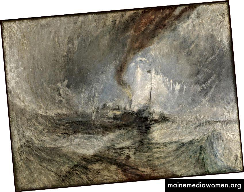 Joseph Mallord William Turner Schneesturm - Dampfschiff vor einer Hafenmündung ausgestellt 1842