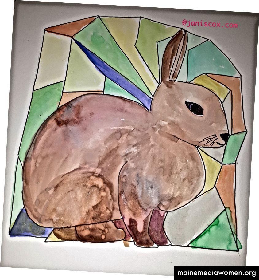 33 Punktbild - Kaninchen