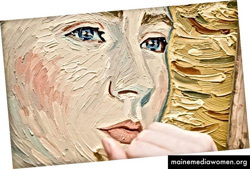 Nahaufnahme von Saoirse Ronan als Marguerite Gachet
