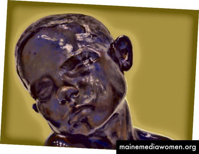 Hommage an Brancusi. Digitale Malerei von Serena Stelitano bei dada.nyc
