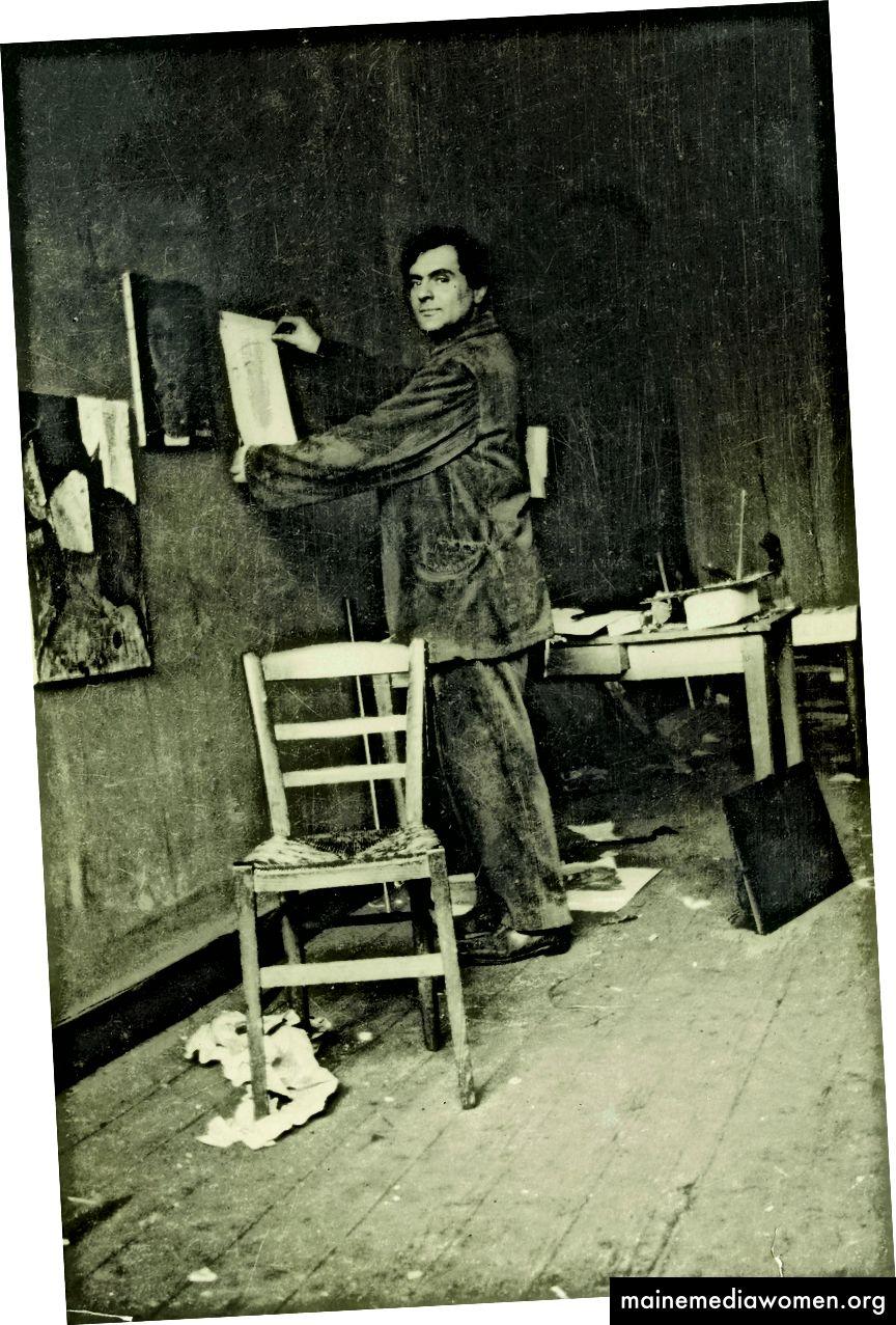 Modigliani in seinem Atelier