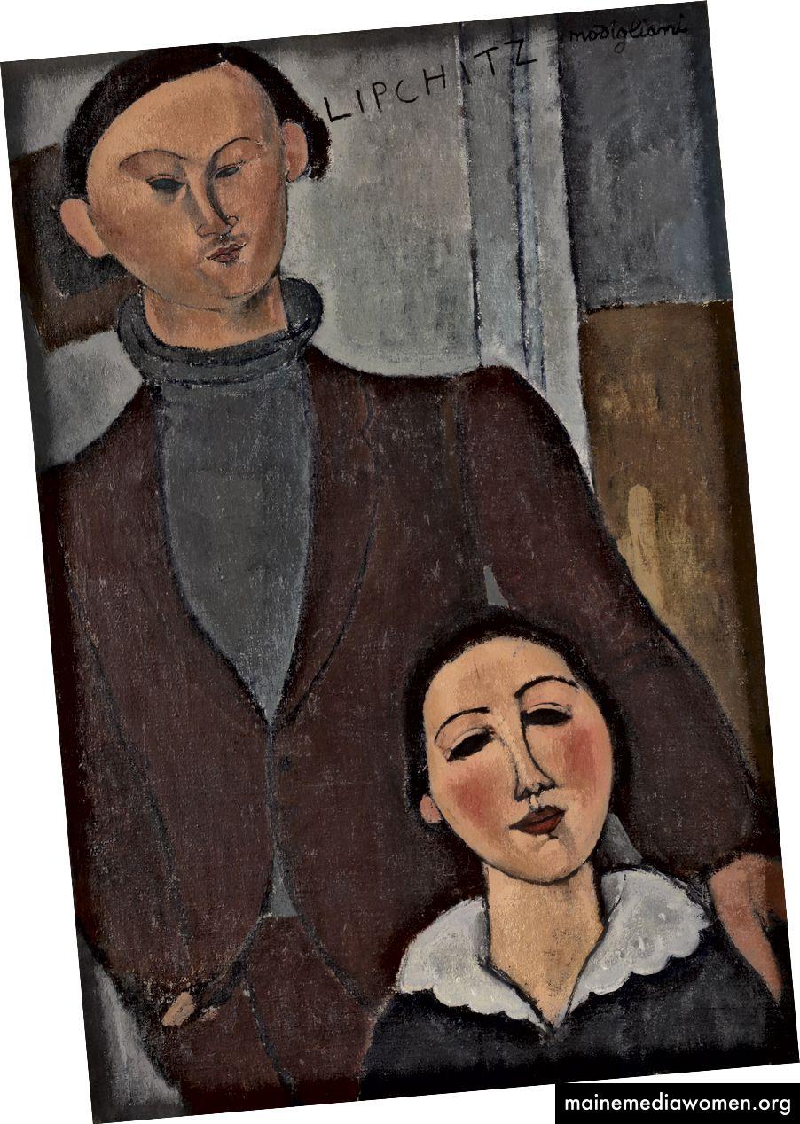 Amedeo Modigliani, Jacques und Berthe Lipchitz, 1916