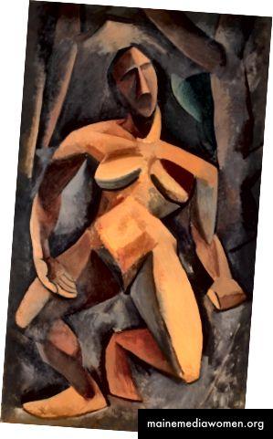 الشكل 2. بابلو بيكاسو ، درياد ، 1908 ، زيت على قماش ، 185 سم × 108 سم. (المتحف ، 2017)