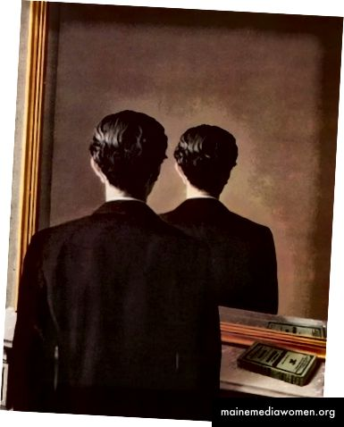 Abbildung 7 René Magritte, Nicht zu reproduzieren, 1937, Öl auf Leinwand, 32