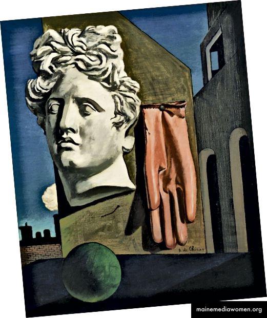 الشكل 8 جورجيو دي شيريكو ، أغنية الحب ، 1914 ، زيت على قماش ، 73 سم × 59.1 سم. (MoMA ، 2017)