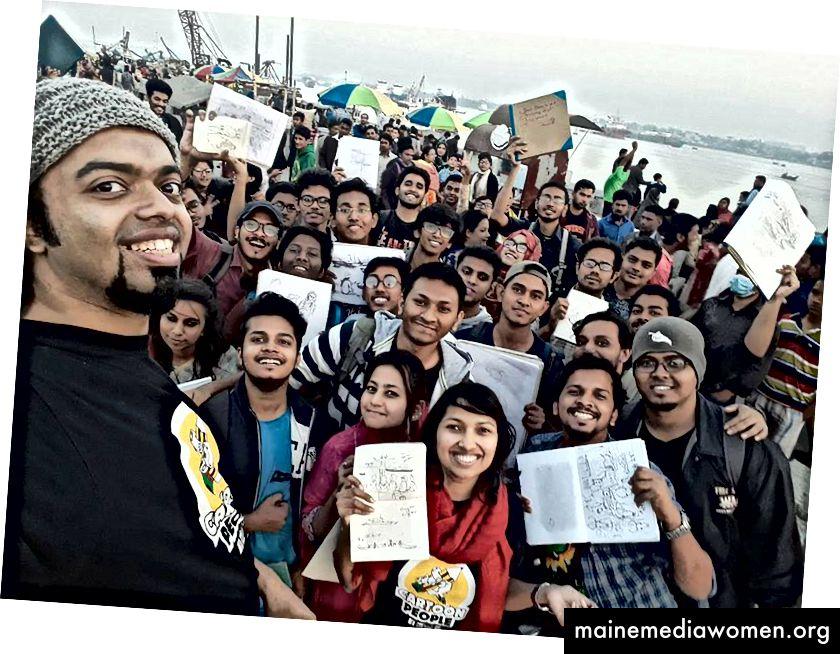 Skizzenbuch Samstag in Neval Beach, Chittagong.
