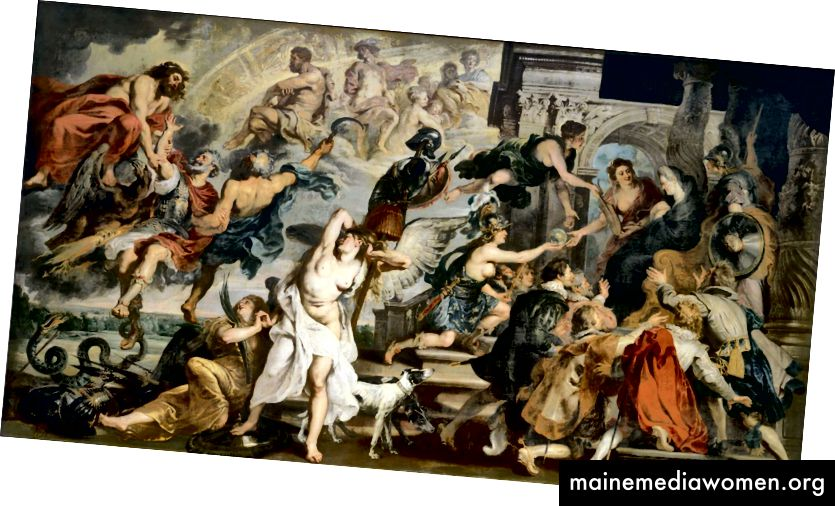 Peter-Paul Rubens, Der Tod Heinrichs IV. Und die Proklamation der Regentschaft 1622–1625.