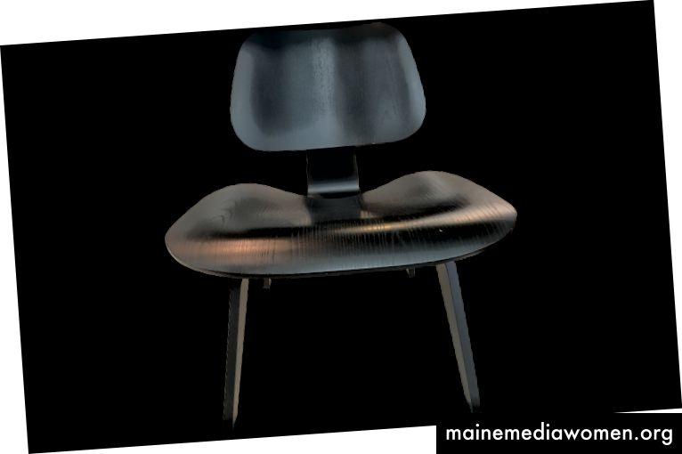 Charles und Ray Eames, geformter Sperrholz-Loungesessel LCW, erhältlich bei Viyet.com