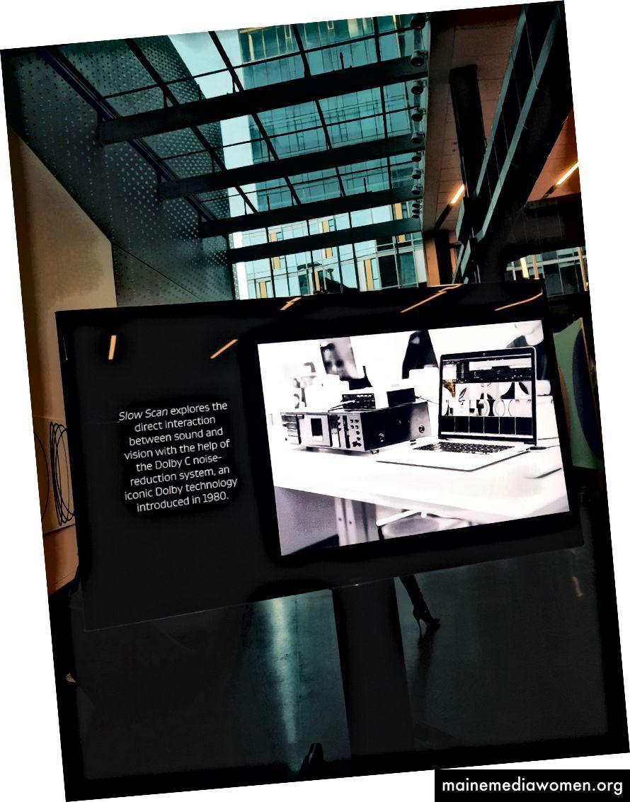 Das Kunstwerk in situ im Dolby HQ (Fotos: Kristjan Lepik)