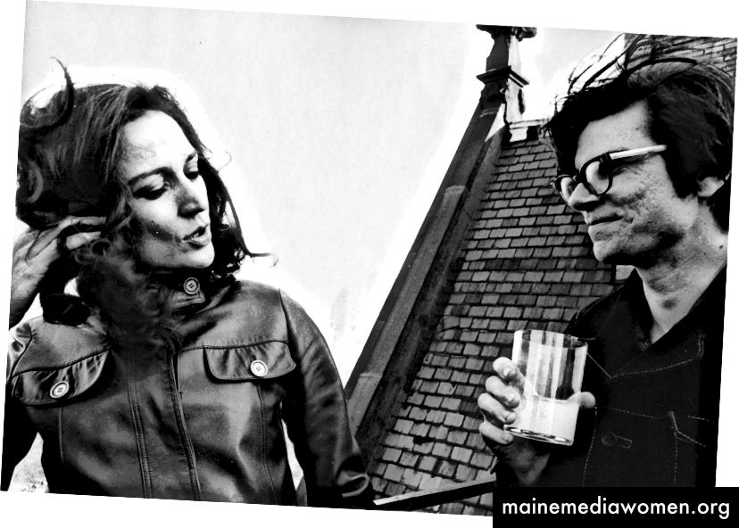 Virginia Dwan und Robert Smithson. Quelle: ROLU.