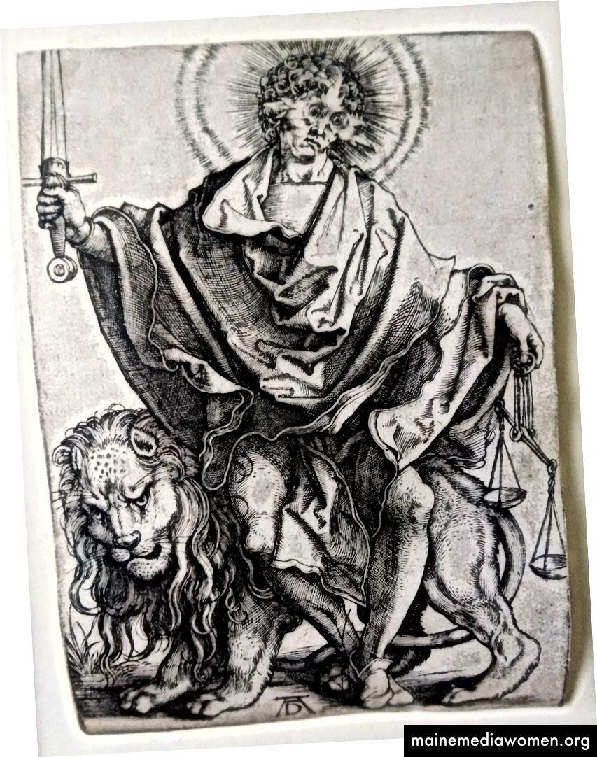 "Albrecht Dürer, Sol Justitiae (oder Der Richter), 1499, 4,25 x 3, ""Gravur."