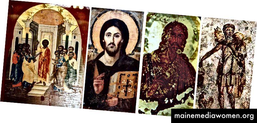 Darstellungen von Jesus aus dem 5. und 6. Jahrhundert.