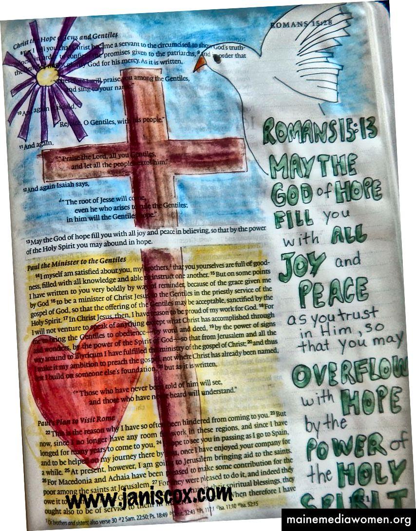 Bibelkunst - Janis Cox - Kostenloser Bibelkunstkurs.