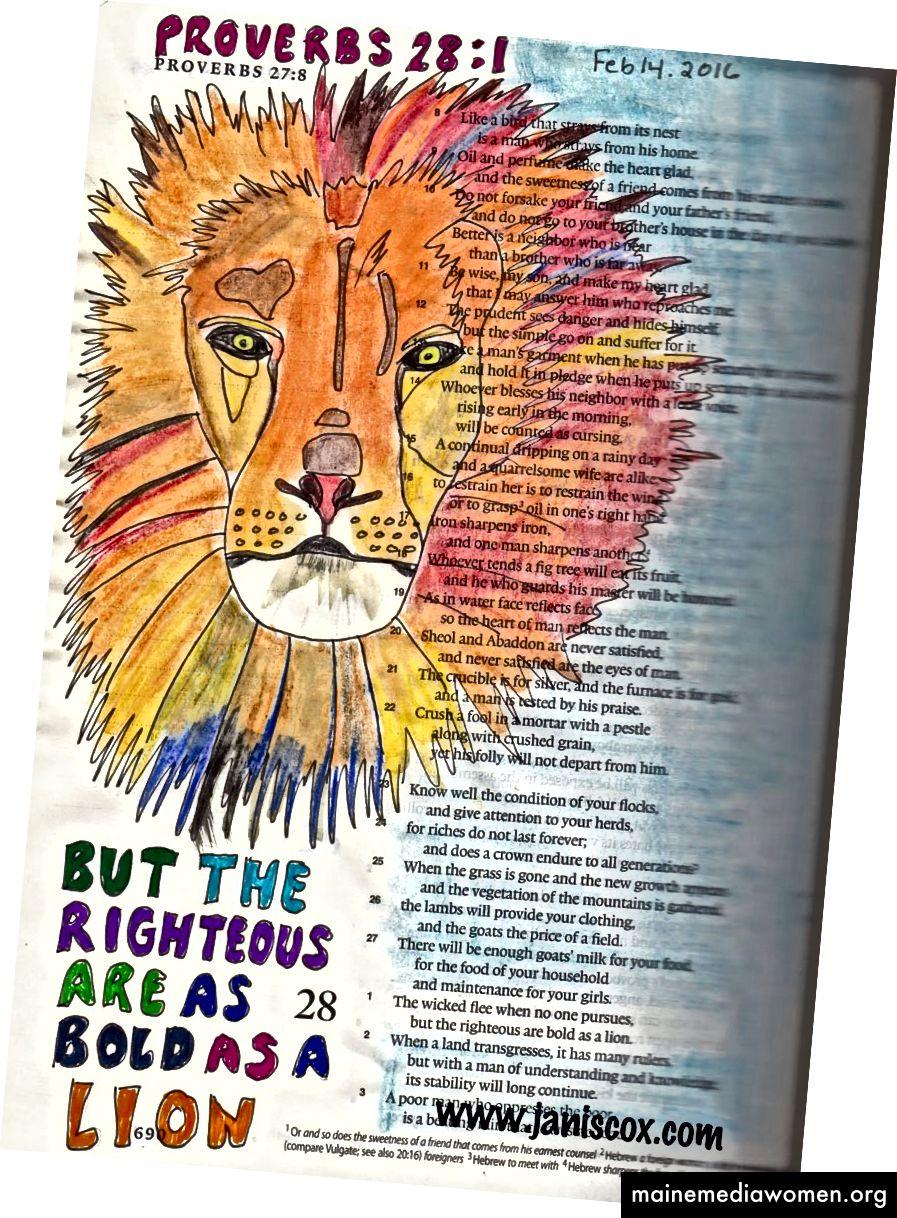 Bibelkunst von Janis Cox
