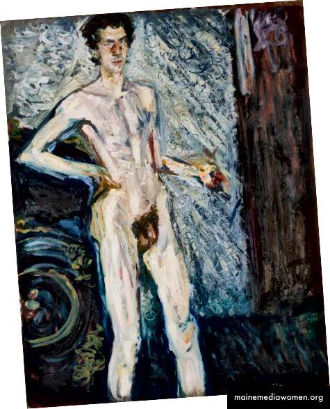 Akt Selbstporträt mit Palette, Richard Gerstl (1908) [Quelle]