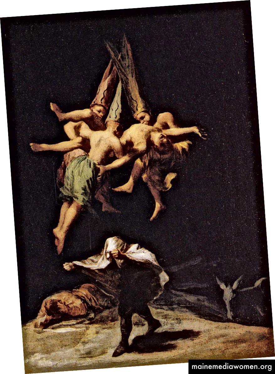 فرانسيسكو غويا ، السحرة في الرحلة ، 1797-1798