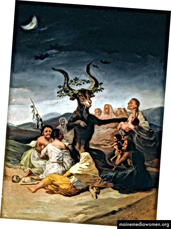 يوم السبت الساحرة (1798) هو بالتأكيد تصوير أكثر سحراً ورعبًا للسحرة التي تمثل مخاوف الناس وسحرهم المهووسين.