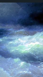 أنا أيفازوفسكي. بين الأمواج 1898