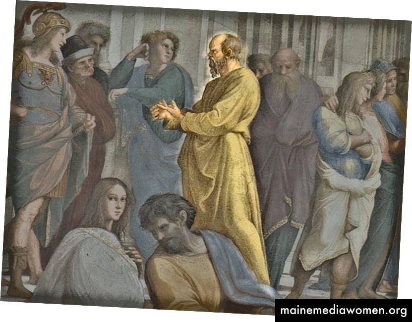 يقال إن الناس اعتادوا الهرب أو الاختباء عندما كان سقراط في الأفق ، لأنه اعتاد طرح الكثير من الأسئلة.