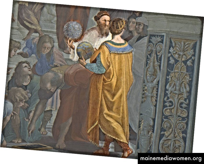 Strabo (يسار) و Ptolemy (يمين)
