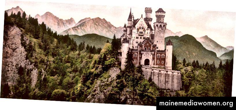 Photochrom، طباعة، بسبب، ال التعريف، تكتل سياسي، بسبب، قلعة neuschwanstein، bavaria، ألمانيا، c. 1900 ، عبر مكتبة الكونغرس