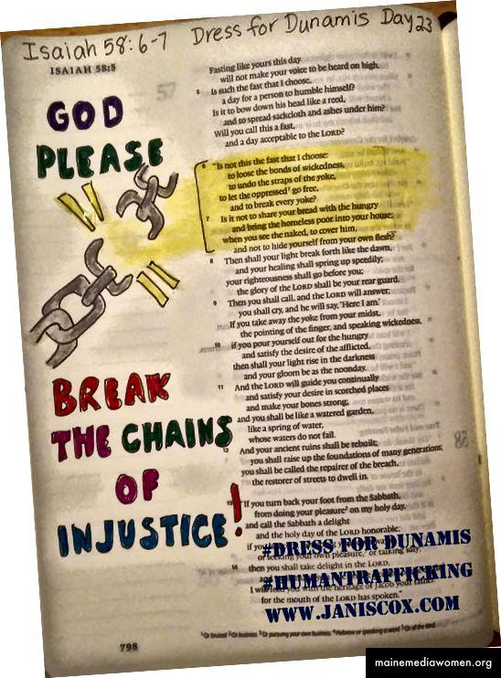 مثال على فن الكتاب المقدس في حملة أخرى ضد الاتجار بالبشر. 2016